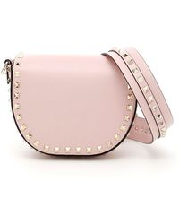 Valentino - Garavani Rockstud Saddle Shoulder Bag - Lyst