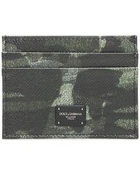 817d0cbcf5 Dolce & Gabbana - Camouflage Effect Cardholder - Lyst