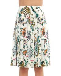 Tory Burch - Carmine Pleated Skirt - Lyst