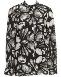 Alexander McQueen - Cabinet Of Shells Print Silk Blouse - Lyst