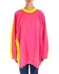 Céline - Oversized Contrasting Sweatshirt - Lyst
