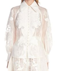 Zimmermann - Lace Collared Top - Lyst