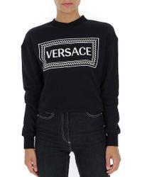 Versace - Logo Intarsia Jumper - Lyst