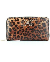 Dolce & Gabbana - Leopard Print Logo Wallet - Lyst