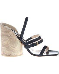 Jacquemus - Wood Heel Sandals - Lyst