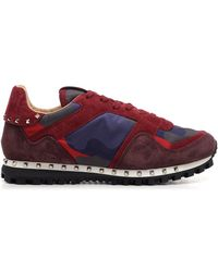 """Valentino Camouflage """"rockrunner"""" Sneakers - Red"""