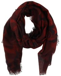 Valentino - Printed Camouflage Scarf - Lyst