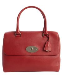 Mulberry Poppy Red Leather Del Ray Top Handle Satchel - Lyst