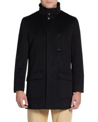 Saks Fifth Avenue Black Label - Convertible-collar Wool Barn Jacket - Lyst
