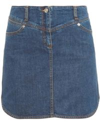 See By Chloé Stretch-Cotton Denim Mini Skirt - Lyst