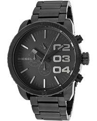 Diesel Men'S Franchise Chrono Black Ip Stainless Steel And Dial black - Lyst