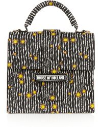 House of Holland - Lady H Printed Textured-Leather Shoulder Bag - Lyst