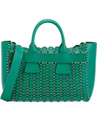 Paco Rabanne 14#01 Cabas Small Tote green - Lyst