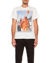 Julien David Double Printed Graphic Cotton Tee - Lyst