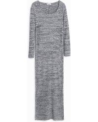 Mango | Stripe Textured Dress | Lyst