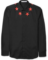 Givenchy Slim-fit Printed Cotton Shirt - Lyst