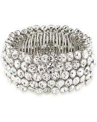 Carolee - Broadway Lights Beaded Stretch Bracelet - Lyst