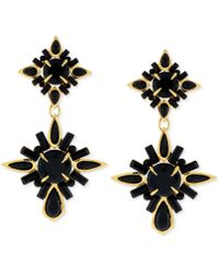 Vince Camuto - Gold-tone Drama Drop Earrings - Lyst