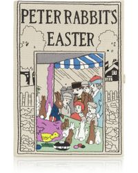 Olympia Le-Tan Peter Rabbits Easter Embroidered Clutch - Lyst