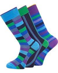 Duchamp - Green Stripe 3 Socks Giftset - Lyst