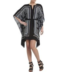 BCBGMAXAZRIA Inessa Printed Ruffled Caftan Dress - Lyst