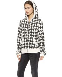 Wildfox Fox Tooth Zip Up Jacket  Vintage Lace - Lyst