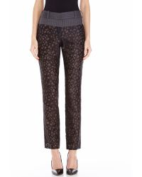Vera Wang Mixed Media Pants - Lyst