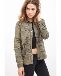 Forever 21 Camouflage Utility Jacket - Lyst