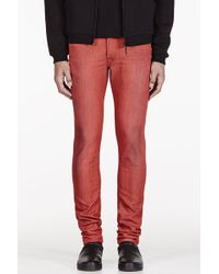 Diesel Red Slim Sleenker Jeans - Lyst