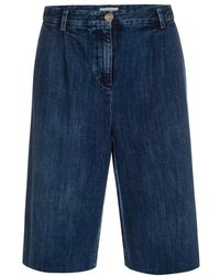 Paul Smith | Women's Washed Denim Knee-length Shorts | Lyst