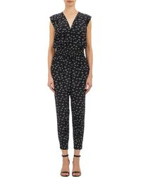 Band Of Outsiders Black Snail-pattern Jumpsuit - Lyst