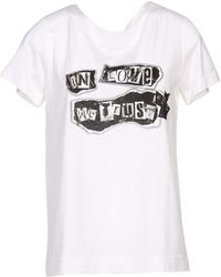 Moschino White Tshirt - Lyst