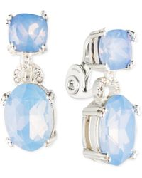 Anne Klein Glass Stone And Crystal Clip-On Earrings - Lyst