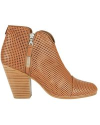 Rag & Bone - Exclusive Margot Perforated Double Zip Bootie - Lyst