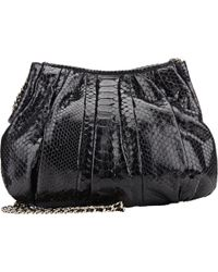 Zagliani - Python Bianca Shoulder Bag-Black - Lyst