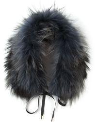 Yves Salomon Raccoon Fur Collar - Lyst