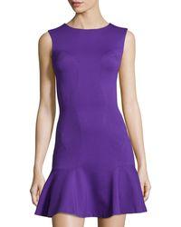 Diane von Furstenberg Knit Ruffle-Hem Sleeveless Dress - Lyst