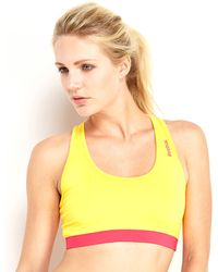 Reebok Two-Tone Sports Bra - Lyst