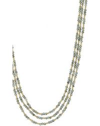 Topshop Faceted Layered Necklace - Lyst