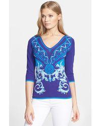 Versace Intarsia Knit Sweater - Lyst