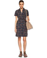 Engineered Garments - Short Sleeve Shirt Dress - Lyst