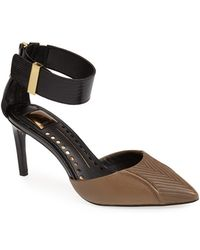 Dolce Vita Leather Ankle Strap D'Orsay Pump - Lyst