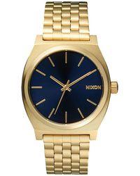 Nixon   Time Teller Gold Watch   Lyst