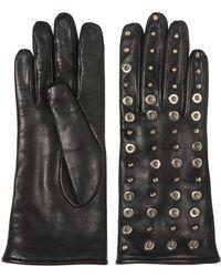 Mario Portolano Studs & Rivets Nappa Leather Gloves - Lyst