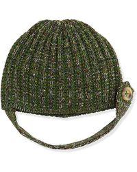 M Missoni - Tabbutton Knit Beanie Hat Medium - Lyst