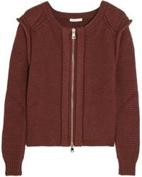 Chloé Wool Silk and Cashmere Blend Cardigan - Lyst