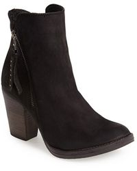 Steve Madden 'Ryat' Leather Ankle Bootie black - Lyst