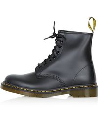 Topshop Womens Dr Martens 8 Eyelet Boots  Black - Lyst