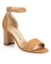 Manolo Blahnik | Lauratopri Suede Ankle-strap Sandals | Lyst