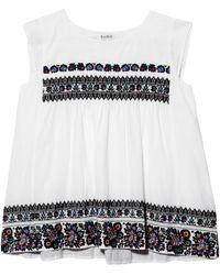 Suno Embroidered Top - Lyst